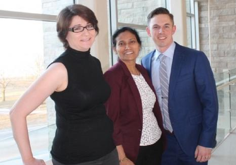 Our Staff in Gynaecology Oncology. Left to Right: Dr. Elena Park, Dr. Anita Agrawal, and Dr. George Gray